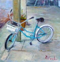 """Seaside Bike"" 8x8 Sold @ Quincy Ave. Art & Things-Seaside, Fl"