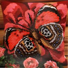 Collection D'Art #crossstitch  ELEGANT #pillowcover