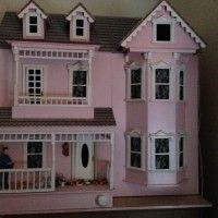 Large Pink Dolls House, Furnished with Lights – Weston-super-Mare – Somerset – Dolls Bears | Online Car Boot Sale UK