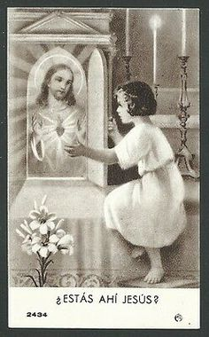Religious Pictures, Jesus Pictures, Catholic Art, Religious Art, Vintage Holy Cards, Inspirational Prayers, Heart Of Jesus, Prayer Cards, Angels And Demons