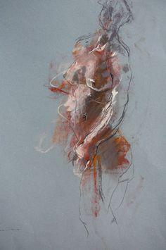 Caroline Deane - Winter Light pastel on paper 47cm x 61 cm