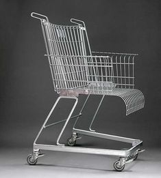 Shopping cart chair.