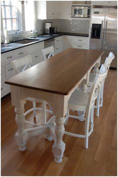 Kitchen: Your Small Family Could Gather Red Kitchen Stools: Lovely and Functional Narrow Kitchen Island Designs