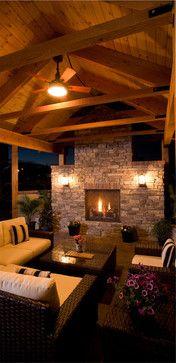 Outdoor Fireplace - traditional - Patio - Denver - Rentfrow Design, LLC
