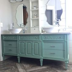 12 superbes meubles lavabos vintage et shabby chic pour la - Meuble de salle de bain style retro ...