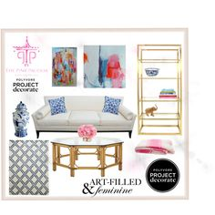 """""""The Pink Pagoda - Lovely Living"""" by nateale-young on Polyvore"""