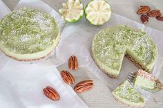Avocado-limoen taart van the Organic kitchen