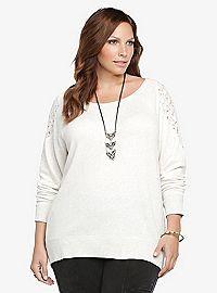 TORRID.COM - Lace Illusion Sweatshirt