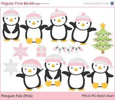 Christmas Penguin Cartoons
