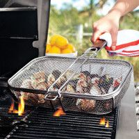 Sur La Table grill basket. I want something like this for grilling veggies and small stuff.