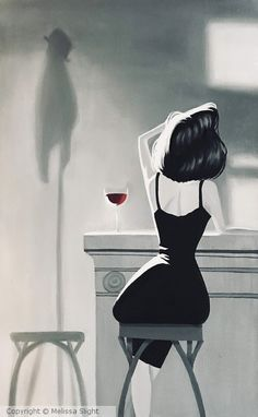 A Nice Glass Of Wine by Melissa Slight Art Pop, Cool Art Drawings, Art Drawings Sketches, L Wallpaper, Arte Indie, Wine Art, Digital Art Girl, Portrait Art, Aesthetic Art