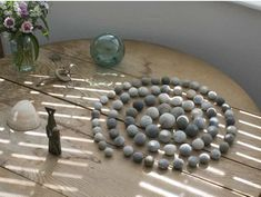 nearly round pebbles arranged in a spiral - from Kettle's Yard. neat.