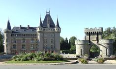 Chateau route Burgundy