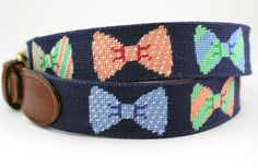 Bow Tie Needlepoint Belt in Navy by Smathers & Branson    http://www.countryclubprep.com/accessories/belts/bow-tie-needlepoint-belt-in-navy-by-smathers-branson.html