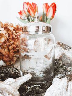 14,95 €  Teedose mit Deckel aus Glas Vintage Stil, Mason Jars, Shabby, Home Decor, Home Decor Accessories, Corning Glass, Decoration Home, Room Decor, Mason Jar