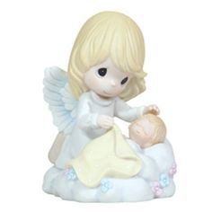 Precious Moments Angel and Child Figurine Sleep In Heavenly Peace1