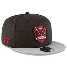 Arizona Cardinals New Era 2018 NFL Sideline Road Official Snapback  Adjustable Hat – Black Heather Gray b02eeea68