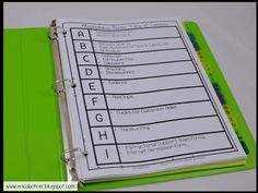 Miscellaneous Binder Table Of Contents Teacher Plan Books, Classroom Organization, Getting Organized, Binder, Contents, Bullet Journal, Map, How To Plan