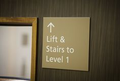 details | wayfinding | lift and stairs #pictosign #wayfinding Wayfinding Signs, Signage, Helping People, Stairs, Frame, Home Decor, Ladders, Homemade Home Decor, Stairway