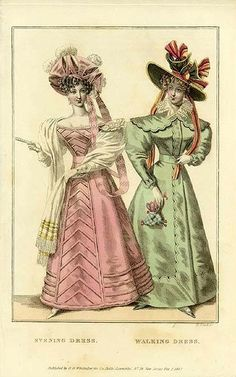 Evening dress walking dress - 1827 repinned by www.lecastingparisien.com