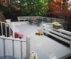 To achieve a saturated color coverage on your deck, use a solid stain which will obscure the grain but still show off the wood's texture, so that it doesn't look artificial. Shown here: Flood® SWF-SOLID stain in Traditional Cape Cod Gray has an opaque finish that hides imperfections without the need for primer, making the job a bit easier.