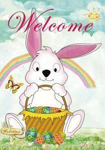 Hoppy Easter Garden Flag11 18 x 14 12 bestseller Easter