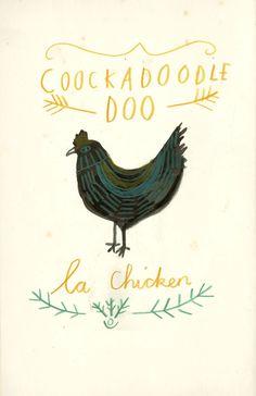 Mr chicken // Katt Frank Illustration