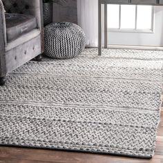 nuLOOM Flatweave Striped Indoor/ Outdoor Patio Rug