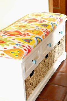 DIY No Sew Bench Cushion - Old House to New Home