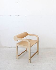 Leaning Cylinder Arm Chair by Shin Okuda