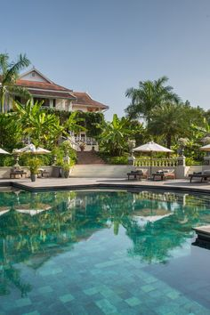To step into the Luang Say Residence is to step back in time. This boutique retreat pays homage to the 19th-century French explorers who first settled in Luang Prabang and captures the Old World magnificence of this magical city. The unique loungers by the pool take the edge of Luang Prabang's afternoon humidity. #Jetsetter