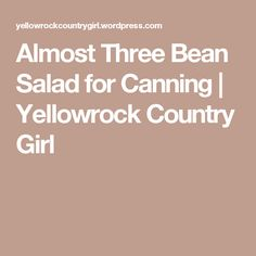 Almost Three Bean Salad for Canning | Yellowrock Country Girl