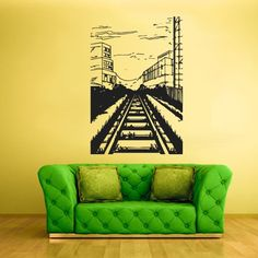 Wall Decal Vinyl Sticker Decor Art Bedroom Design Mural Train Picture City Tram Town Modern (Z1991) StickersForLife http://www.amazon.com/dp/B00FUY5NW6/ref=cm_sw_r_pi_dp_Rorfvb154DB7Z