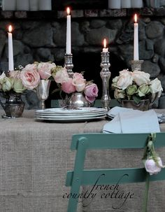 FRENCH COUNTRY COTTAGE: Romantic Winter Table