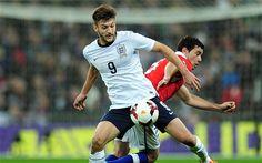 Adam Lallana debuts in the England v Chilegame : Adam Lallana flies the flag high for Southampton.