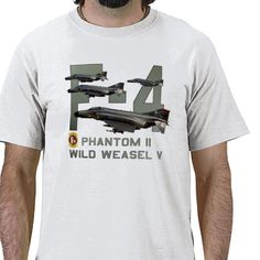 F-4 Phantom II Wild Weasel Fighter / Counter Measures Aircraft - Military Shirts and Gifts.
