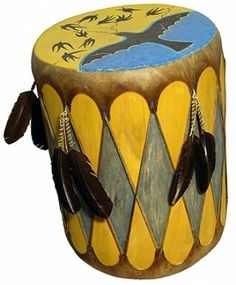 Native American Rain Drum from Prairie Edge in Rapid City, SD.