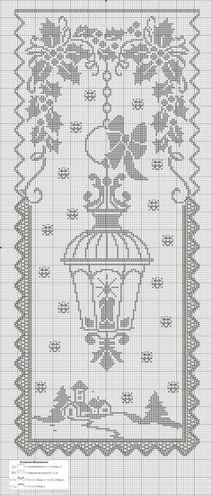 Gardine/Vorhang Laterne/Winter Curtain / curtain Lantern / winter Curtain / curtain Lantern / winter The post Curtain / curtain Lantern / winter appeared first on curtains ideas. Crochet Patterns Filet, Crochet Shawl Free, Crochet Diagram, Crochet Books, Crochet Home, Thread Crochet, Cross Stitch Charts, Cross Stitch Designs, Cross Stitch Patterns