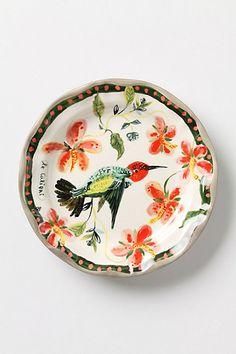 Francophile decorative dinner plate - Anthropologie