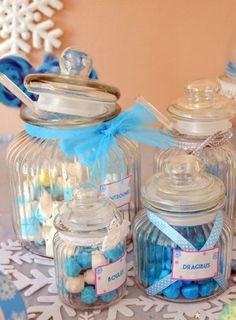 Des bonbons et friandises pour un anniversaire Reine des Neiges