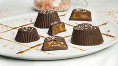 Σοκολατάκια με καραμέλα βουτύρου (5 υλικά)