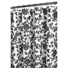 Park B. Smith Floral Swirl Watershed Shower Curtain, White/Black   I Would  Totally Get This If I Switched My Bathroom Theme To Black And White!