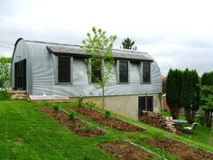 Quonset Hut Homes Plans -  this will work for us minus the grey metal exterior.