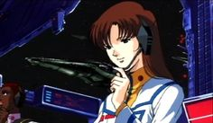 Misa waiting for Minmay to sing