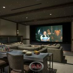 37Red Rock Rustic Home Theater