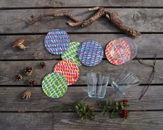 Baltic Mixed Colours Coasters by jonnasaarinen on Etsy