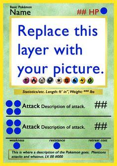 Customizable Pokemon Card by arapax.deviantart.com on @deviantART. This is fantastic!