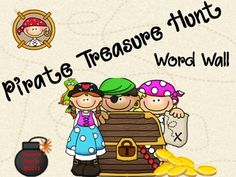 Choose your pirate character and help him/her find gold!! The way you find gold is by reading word wall words (I included both kinder and 1st grade...