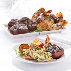 Mmmmmm steak and lobster or even shrimp skewers http://www.cuisinelinks.com/Index