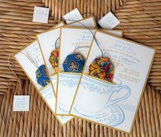 Tea party invitation  |  Miniature Rhino